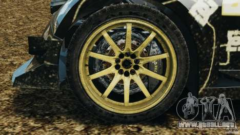 Colin McRae BFGoodrich Rallycross para GTA 4 vista hacia atrás