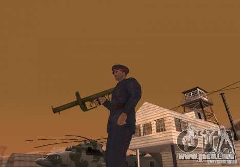 Panzerschreck para GTA San Andreas segunda pantalla