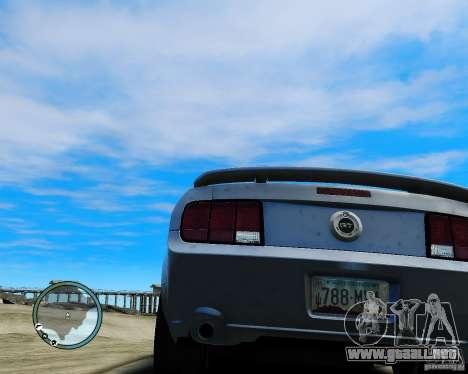 Ford Mustang GT 2005 v1.2 para GTA 4 Vista posterior izquierda