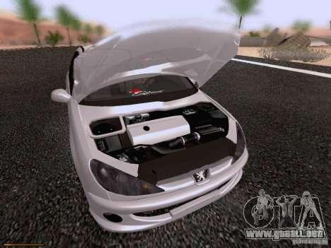 Peugeot 206 para la vista superior GTA San Andreas