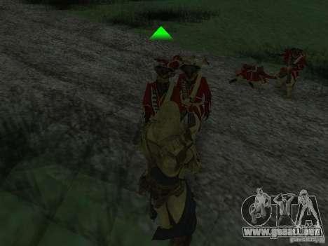 Connor From ACIII para GTA San Andreas séptima pantalla
