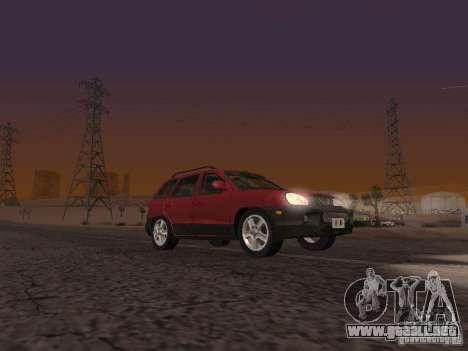 Hyundai Santa Fe Classic para GTA San Andreas vista posterior izquierda