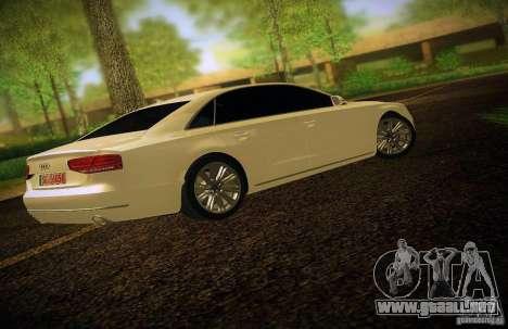Audi A8 2010 para la vista superior GTA San Andreas