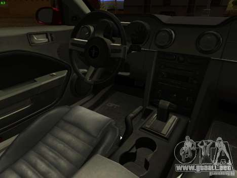Ford Mustang GT 2005 Tuned para vista lateral GTA San Andreas