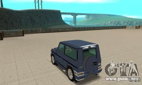Mercedes-Benz G500 1999 Short [with kangoo v1] para GTA San Andreas vista posterior izquierda