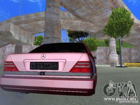Mercedes-Benz S600 W140 v 2.0 para la visión correcta GTA San Andreas