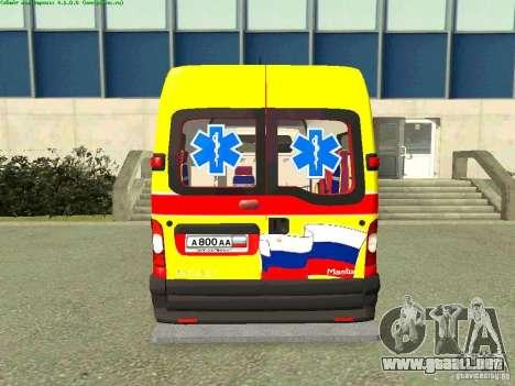 Renault Master rápido Samara para GTA San Andreas vista posterior izquierda