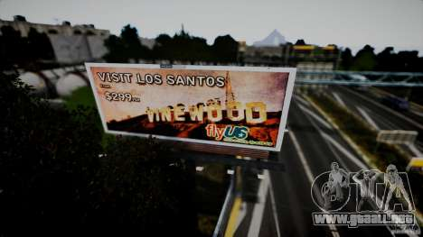 Realistic Airport Billboard para GTA 4 sexto de pantalla