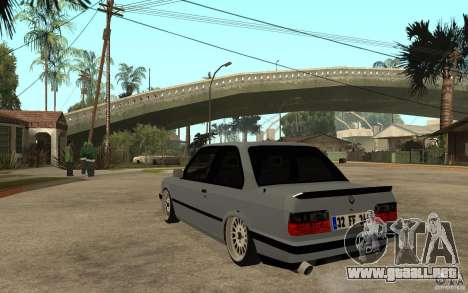 BMW E30 CebeL Tuning para GTA San Andreas vista posterior izquierda