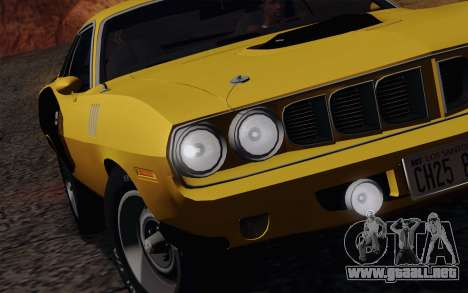 Plymouth Hemi Cuda 426 1971 para vista inferior GTA San Andreas