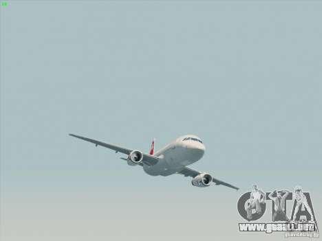 Airbus A319-112 Swiss International Air Lines para GTA San Andreas vista hacia atrás
