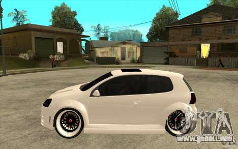 VW Golf 5 GTI Tuning para GTA San Andreas left