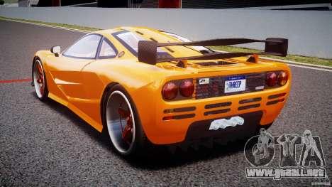 Mc Laren F1 LM v1.0 para GTA 4 Vista posterior izquierda