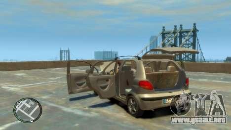 Daewoo Matiz Style 2000 para GTA 4 vista interior