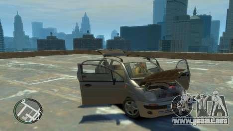 Daewoo Matiz Style 2000 para GTA 4 vista hacia atrás