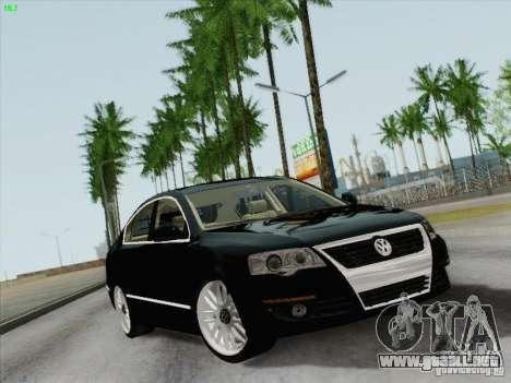 Volkswagen Magotan 2011 para GTA San Andreas vista hacia atrás