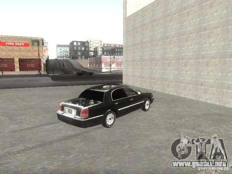 Lincoln Town car sedan para GTA San Andreas vista posterior izquierda