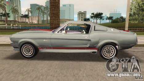 Ford Shelby GT500 para GTA Vice City vista interior