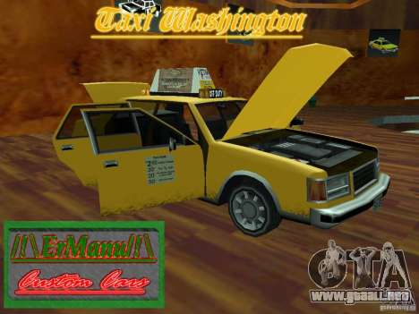 Taxi Washington para la visión correcta GTA San Andreas