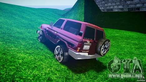 Toyota Land Cruiser 4.5 V2 para GTA 4 Vista posterior izquierda