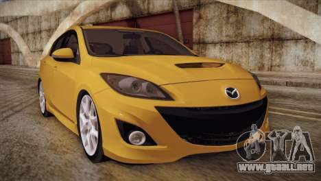 Mazda Mazdaspeed3 2010 para GTA San Andreas left