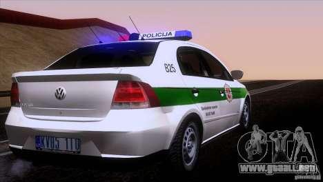 Volkswagen Voyage Policija para la visión correcta GTA San Andreas