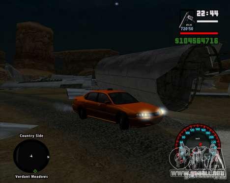 Velocímetro BMW nuevo para GTA San Andreas tercera pantalla
