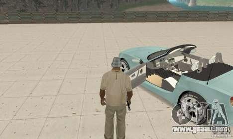 BMW Z4 Roadster 2006 para GTA San Andreas vista hacia atrás
