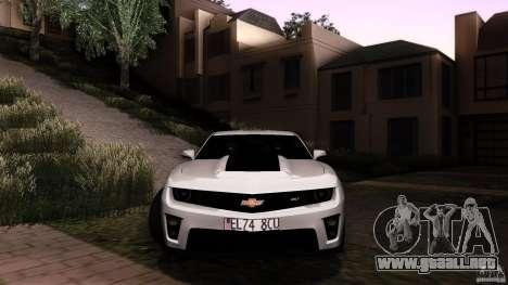 Chevrolet Camaro ZL1 2011 v1.0 para visión interna GTA San Andreas