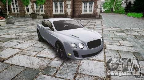 Bentley Continental SuperSports 2010 [EPM] para GTA 4 vista hacia atrás