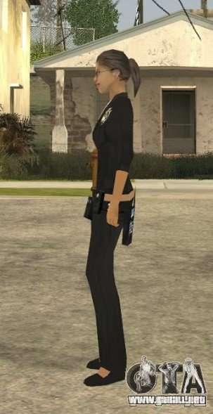 Piel de la muchacha DD para GTA San Andreas sucesivamente de pantalla