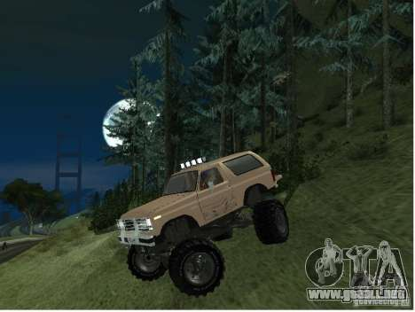 Ford Bronco IV Monster para GTA San Andreas left