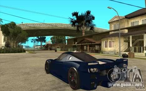 Ferrari FXX 2005 para la visión correcta GTA San Andreas