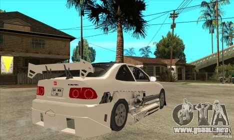 Honda Civic Tuning Tunable para visión interna GTA San Andreas