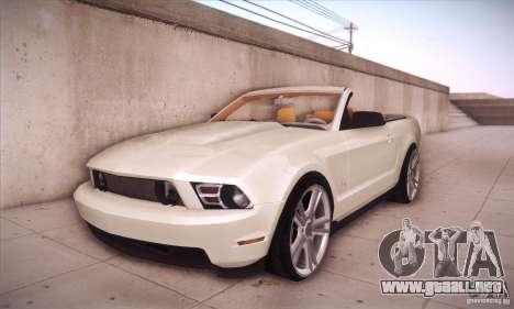 Ford Mustang 2011 Convertible para GTA San Andreas