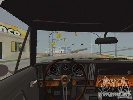 Chevrolet Camaro Z28 para visión interna GTA San Andreas