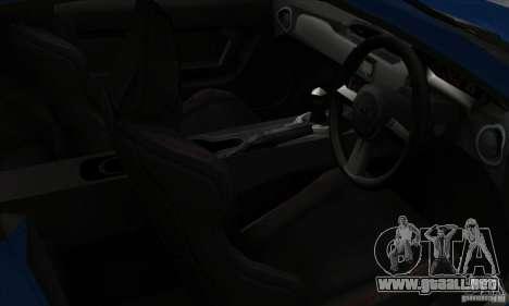 Subaru BRZ JDM para GTA San Andreas vista hacia atrás