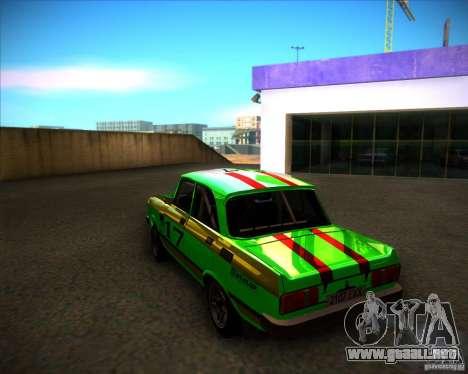 Rally de 2140SL AZLK para GTA San Andreas vista posterior izquierda