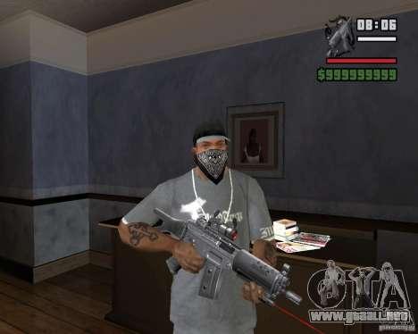 Mira de rifle láser para GTA San Andreas tercera pantalla