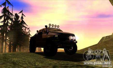Dodge Ram All Terrain Carryer para GTA San Andreas vista hacia atrás
