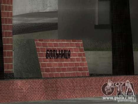 Nuevo hospital de texturas para GTA San Andreas tercera pantalla