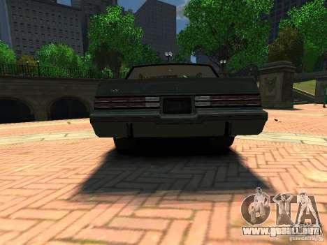 Buick Regal GNX para GTA 4 Vista posterior izquierda