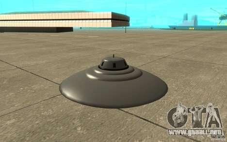 UFO In San Andreas para GTA San Andreas vista posterior izquierda