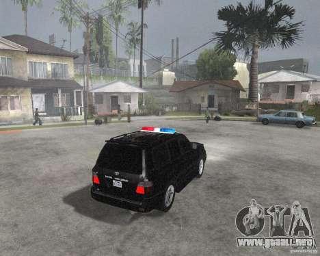 Toyota Land Cruiser 100 VX para la visión correcta GTA San Andreas