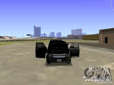 Burrito HD para GTA San Andreas vista posterior izquierda