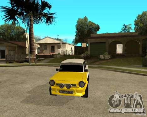ZAZ 968 m tûningovanyj para GTA San Andreas vista hacia atrás