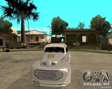Ford F1 Pickup Hotrod 49 para GTA San Andreas vista hacia atrás