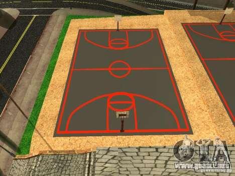 La nueva cancha de baloncesto para GTA San Andreas segunda pantalla