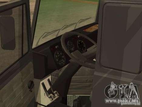 Camión MAZ 5336 para GTA San Andreas vista posterior izquierda