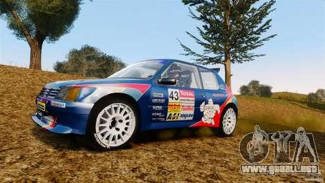 Peugeot 205 Maxi para GTA 4 vista hacia atrás